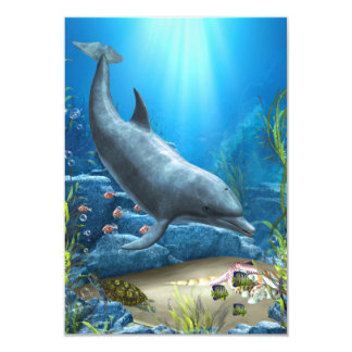 The world of the Dolphin 3.5x5 Paper Invitation Card