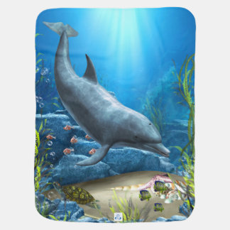 The world of the Dolphin Stroller Blanket