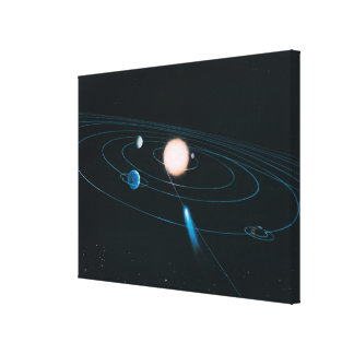 The World of the Inner Solar System Canvas Print