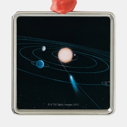 The World of the Inner Solar System Metal Ornament