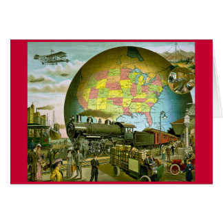 The World of Transportation 1910 Greeting Card