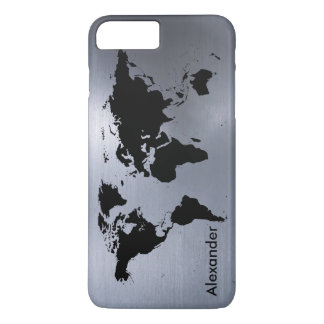 The World on Brushed Metal iPhone 7 Plus Case