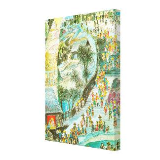 The world on its way to Bethlehem Canvas Print