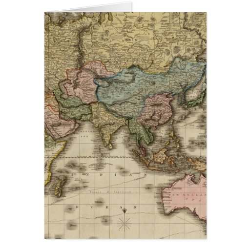 The World on Mercator's projection, eastern part Card