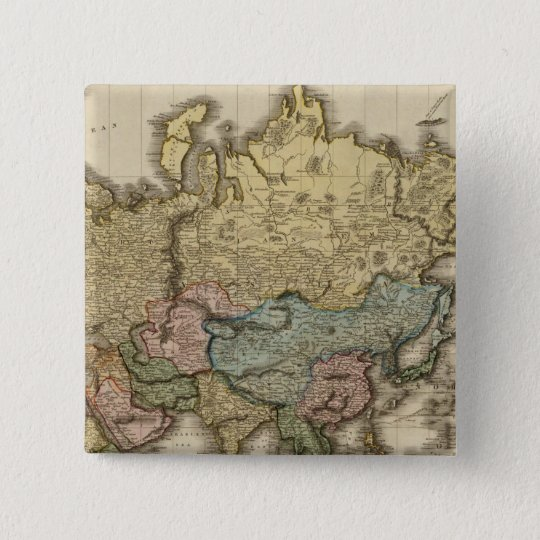 The World on Mercator's projection, eastern part Pinback Button