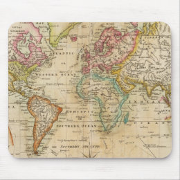 The World on Mercator's Projection Mouse Pad
