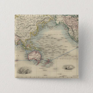 The World On Mercator's Projection Pinback Button