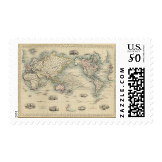 The World On Mercator's Projection Postage