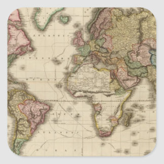 The World on Mercator's projection Square Sticker