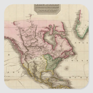 The World on Mercator's projection, western part Square Sticker