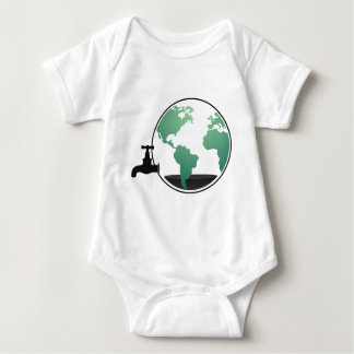 The world out of oil baby bodysuit
