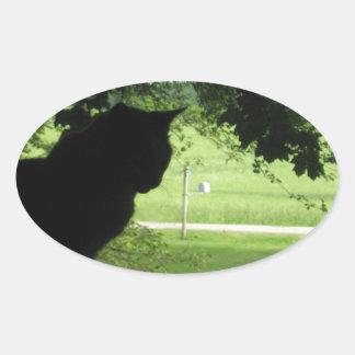 The World Outside Oval Sticker