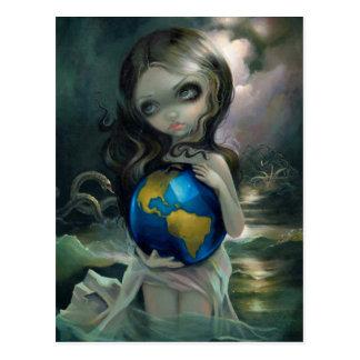 """The World"" Postcard"