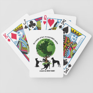 The World Revolves Around My Great Dane Bicycle Playing Cards