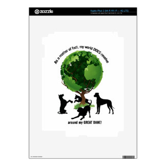 The World Revolves Around My Great Dane Decal For iPad 3