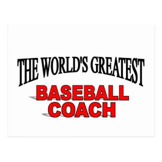 The World s Greatest Baseball Coach Post Card