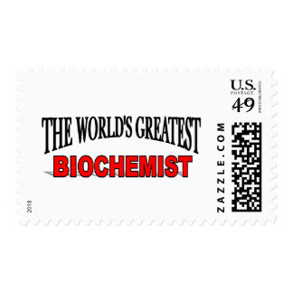 The World s Greatest Biochemist Stamp