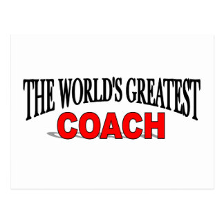 The World s Greatest Coach Post Cards