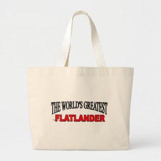 The World s Greatest Flatlander Tote Bags