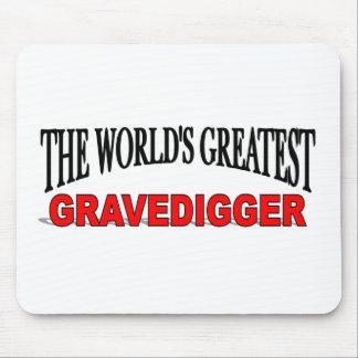 The World s Greatest Gravedigger Mouse Mat