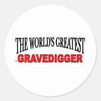 The World s Greatest Gravedigger Sticker