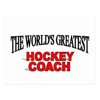 The World s Greatest Hockey Coach Post Card