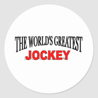 The World s Greatest Jockey Round Stickers