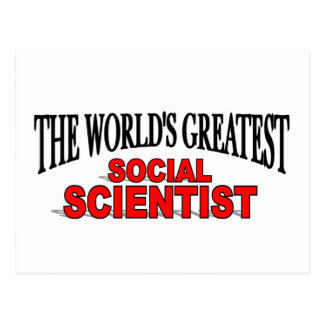 The World s Greatest Social Scientist Postcards