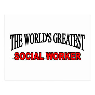 The World s Greatest Social Worker Post Card