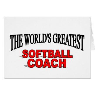 The World s Greatest Softball Coach Cards