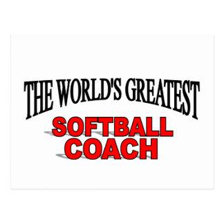 The World s Greatest Softball Coach Post Card