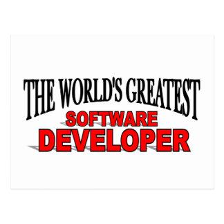 The World s Greatest Software Developer Postcard