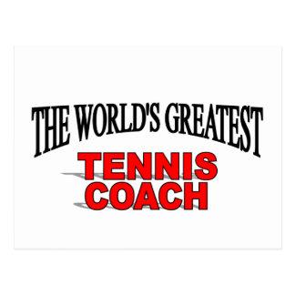 The World s Greatest Tennis Coach Post Card