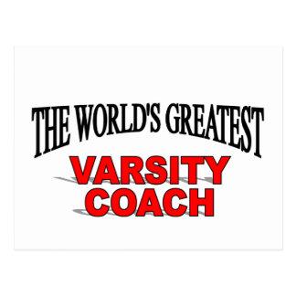 The World s Greatest Varsity Coach Post Card