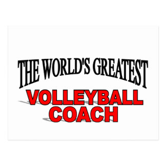 The World s Greatest Volleyball Coach Post Card