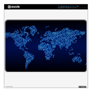 The World skin for 11 inch Macbook Air Skins For The MacBook