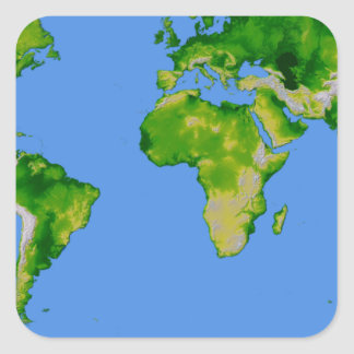 The World Square Sticker
