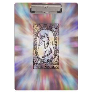 The World Tarot Card Clipboard