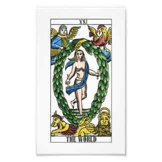 The World Tarot Card Photographic Print