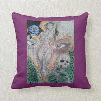 the world through naked eye's throw pillow