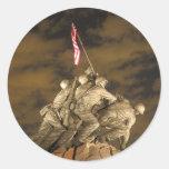 The World War II Iwo Jima Memorial Arlington VA Classic Round Sticker