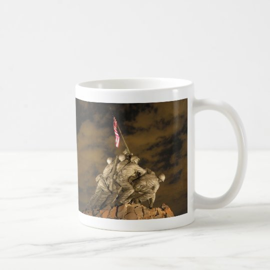 The World War II Iwo Jima Memorial Arlington VA Coffee Mug