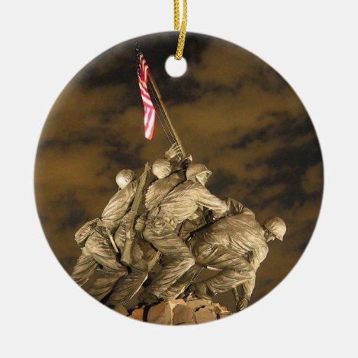The World War II Iwo Jima Memorial Arlington VA Ornaments