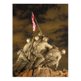The World War II Iwo Jima Memorial Arlington VA Postcard