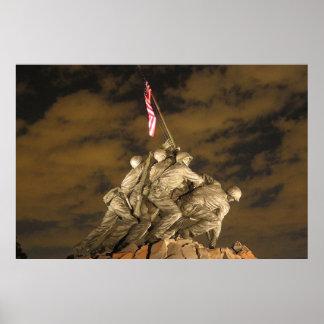 The World War II Iwo Jima Memorial Arlington VA Poster