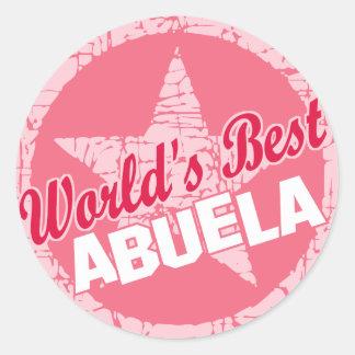 The Worlds Best Abuela Classic Round Sticker