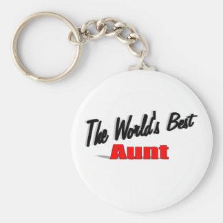 The World's Best Aunt Basic Round Button Keychain