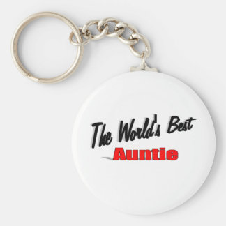 The World's Best Auntie Basic Round Button Keychain