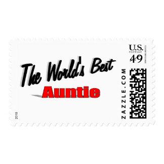 The World's Best Auntie Stamp