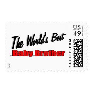 The World's Best Baby Brother Postage Stamp